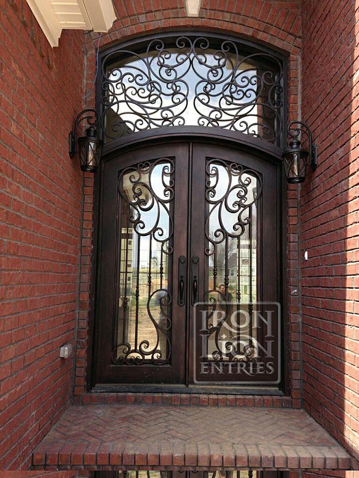 Wrought Iron Entry Door IronEntryDoor Iron Door Recent install custom door+transom & 74 best Iron Front Door Installations images on Pinterest | Lion ... pezcame.com