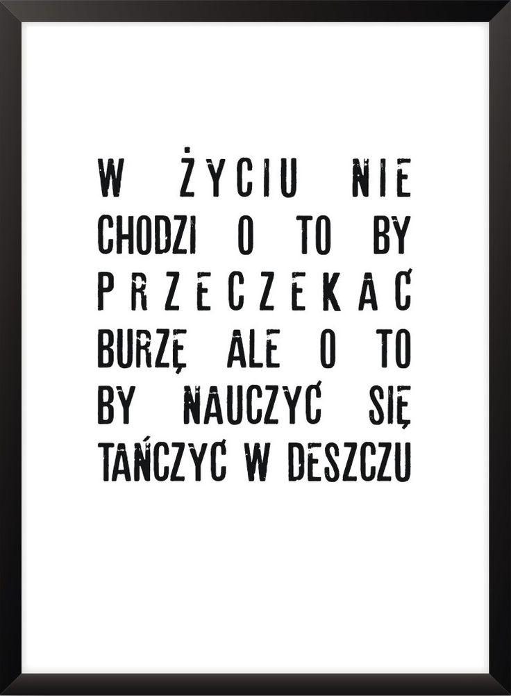 Plakat W życiu... - różne rozmiary NORD&CO