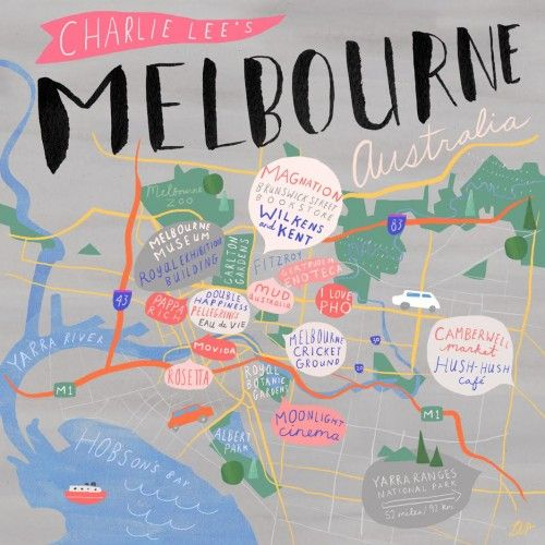 Melbourne City Guide // Charlie Lee on Design Sponge