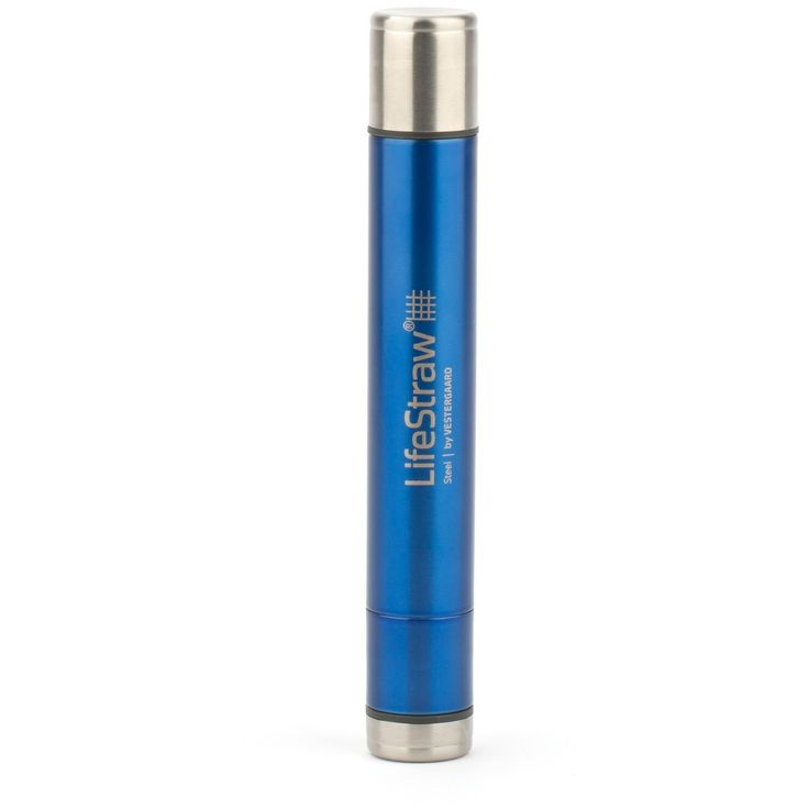 LifeStraw Steel. Details  The LifeStraw® Steel personal water filter builds upon the ingenuity intrinsic to the original LifeStraw® personal water filter with a durable, sleek steel exterior and 2-stage water filtration process. Now, in addition to the hollow fiber membrane (filtering out virtually all bacteria and protozoa), the LifeStraw® Steel water filter has the additional benefit of an activated carbon capsule which reduces chemicals such as chlorine...