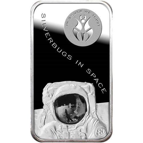 1 oz Silverbugs in Space Silver Bars from JM Bullion™