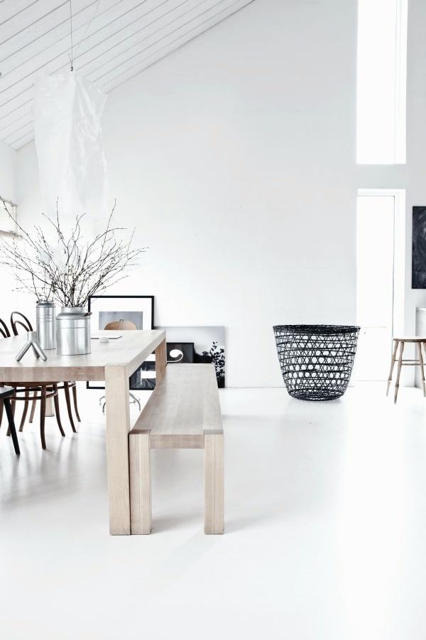 white & wood & black