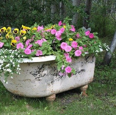 bathtubs as planters pinterest | Bathtub Planter | Garden Gate