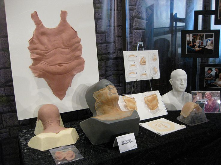Prosthetic pieces from Tony Gardner makeup studios...