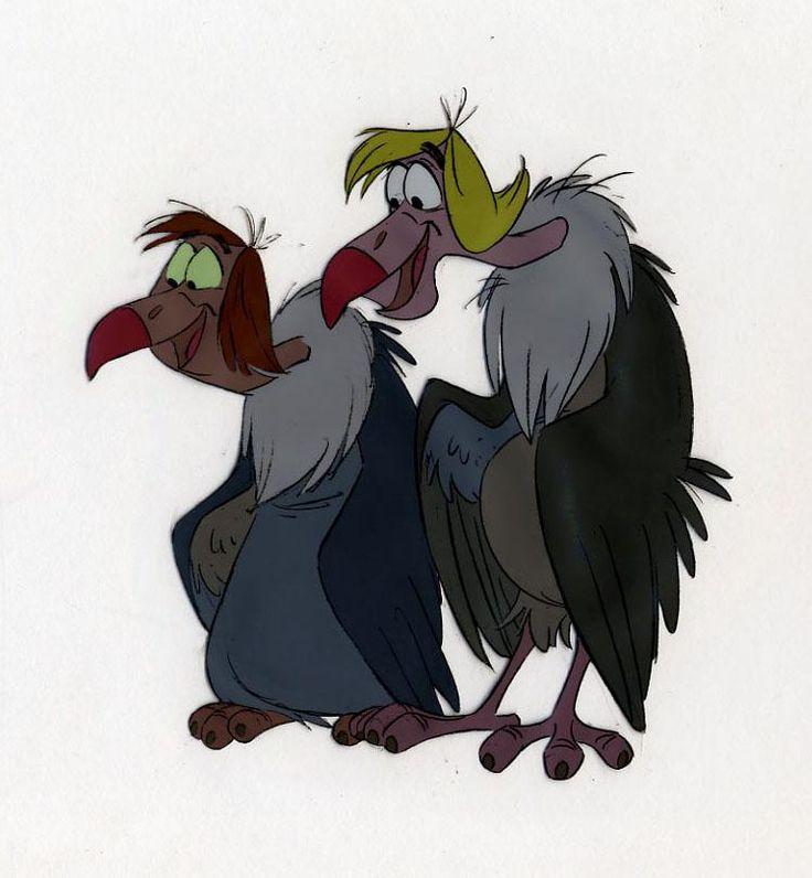 Disney THE JUNGLE BOOK Animation Cel Vultures FLAPS + ZIGGY in Eric Larson Scene, 1967