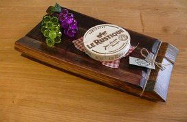 Medium Food Platter recycled from A French Oak Wine Barrel. Finished in Danish Oil