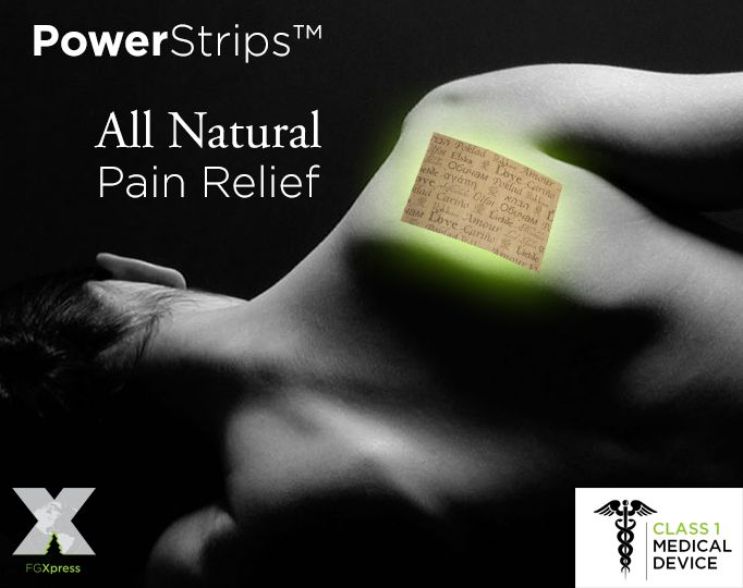 All natural pain relief! FDA listed Class 1 Medical device. Learn more here: http://fgxpressteaminternational.com/fg-xpress-power-strips-review-fg-xpress-power-strips/