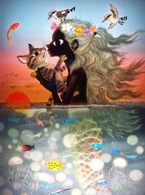 Seiji Fujishiro (藤城 清治) - saw his exhibition today. Absolutely brilliant work!