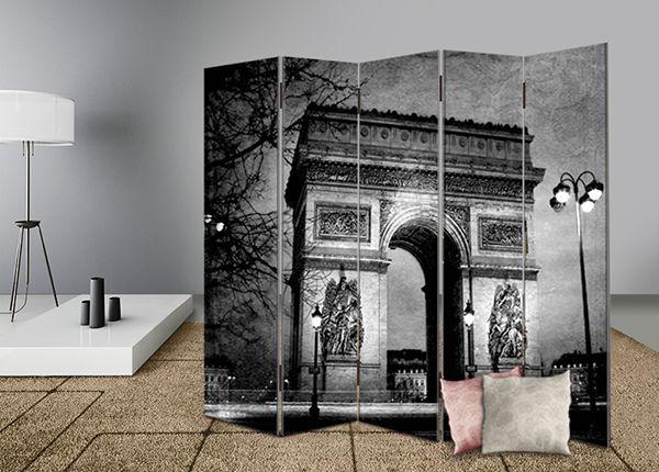 Διακοσμήστε και διαχωρίστε με στυλ το χώρο σας με διακοσμητικά παραβάν #digiwall από την κατηγορία ΠΟΛΕΙΣ : Πύλη του Θριάμβου σε άσπρο-μαύρο