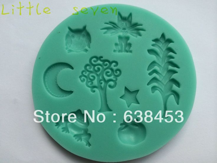 Free Shipping 1Pcs Forests of the night silicone cake fondant decoration mold tools-in Cake Molds from Home & Garden on Aliexpress.com