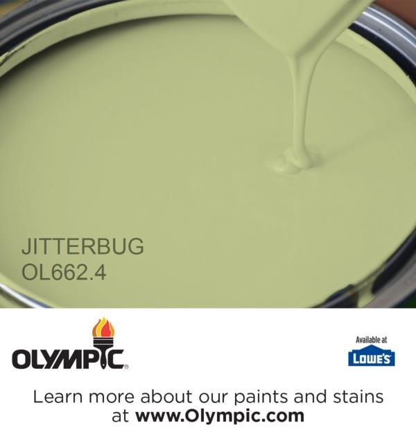 JITTERBUG OL662 4 is a part of the greens collection by Olympic  Paint 77 best Paint green images on Pinterest   Olympic paint  Paint  . Green Paint Color Palette. Home Design Ideas