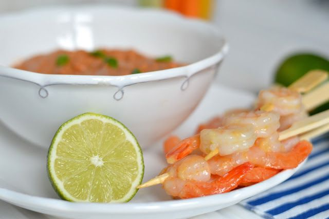 Krevety s dipem ze sušených rajčat