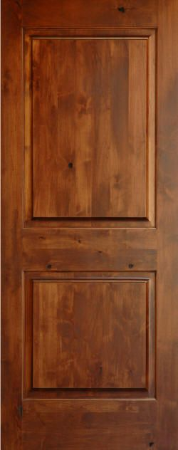 8 39 tall knotty alder two panel solid core doors no arch for 8 panel solid wood doors