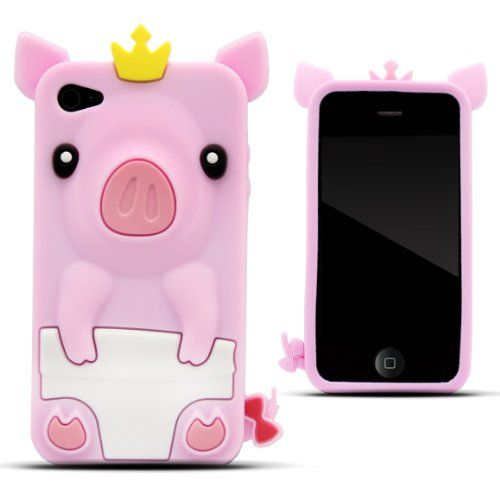 Zooky rosa silicona cerdo funda carcasa cover para apple iphone 4 4s b00a276niy http - Fundas iphone silicona ...