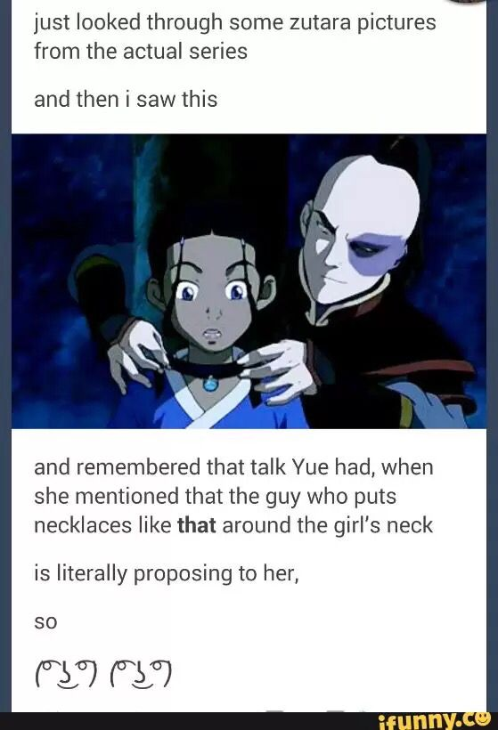 Hahaha, what makes this hilarious is that you can totally see Zuko accidentally proposing to a girl (not even necessarily Katara)
