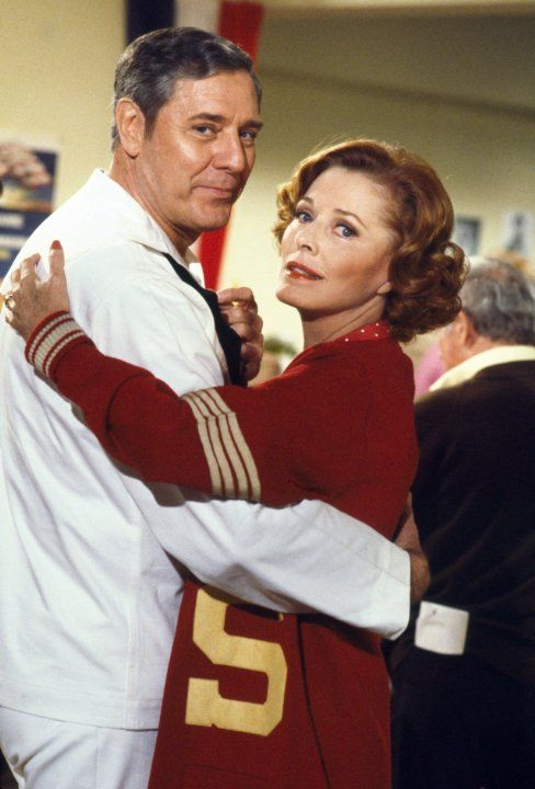 Craig Stevens (husband of actress Alexis Smith) and Eleanor Parker in ''Fantasy Island'' (1977)