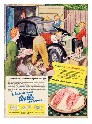 1950's ad for Wall's Ice Cream