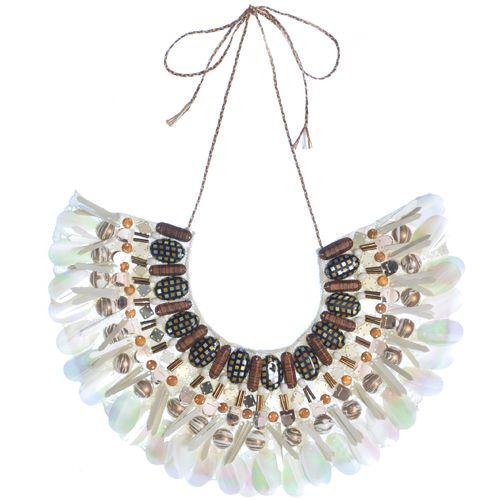 Emma Cassi Black sequins native necklace