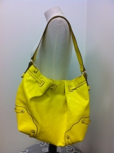 bright, bright, sunshiny day (purse by Jessica Simpson)