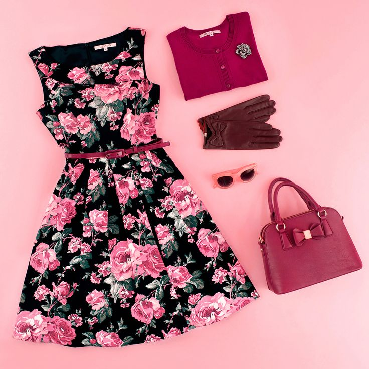 Rose Quartz Dress | Flatlay