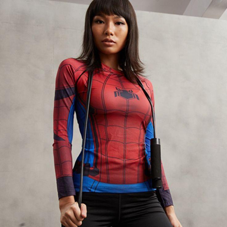 Spiderman Compression Longsleeve //Price: $25.00 & FREE Shipping //     #superheroez #superheroes #marvel #dccomics