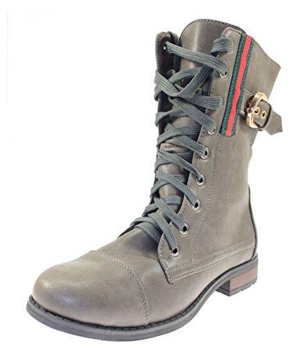 Boots Damenschuhe Farbe Grau zum Schnüren - Stiefel für frauen (*Partner-Link)