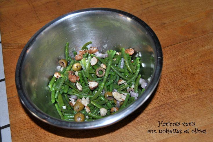 Haricots verts aux noisettes et olives