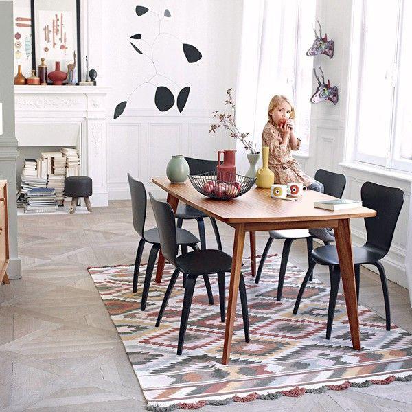 KENSAY Esstisch, mit oder ohne Erweiterungen, Nordic Inspiration, Struktur aus massivem Eichenholz, ein qualitativ hochwertiges Produkt - Deko und Design