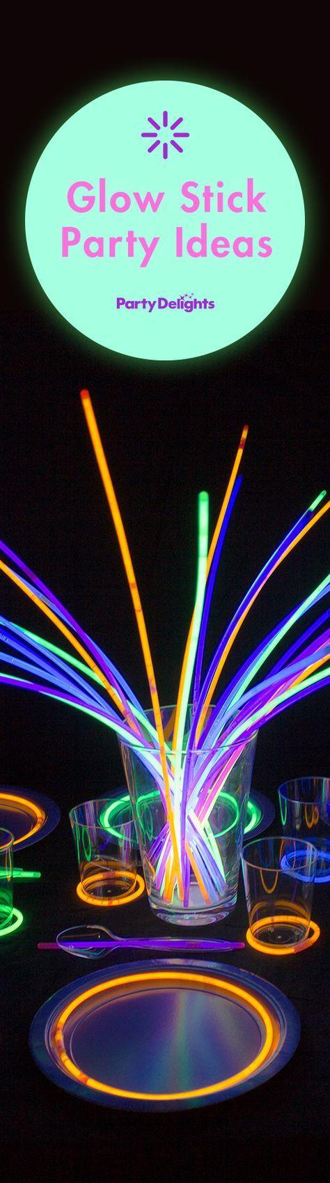 Glow stick party ideas for kids birthdays, neon parties and any other occasion!