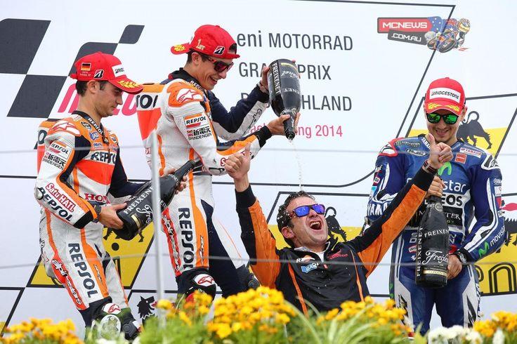 Unbeaten Marc Marquez & team-mate Dani Pedrosa dominated a unique MotoGP race at Sachsenringchttp://www.mcnews.com.au/2014-motogp-rnd9-sachsenring-race/