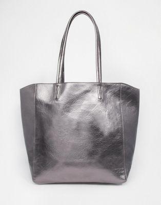 Сумка-шоппер цвета металлик ASOS