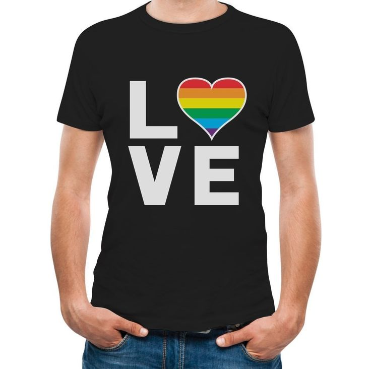Gay Love - Rainbow Heart Gay & Lesbian Pride T-Shirt XXXX-Large Black. Gay Pride tee. Perfect for Pride parades, or for everyday!. Trendy, brightly colored graphics. A unique gift idea for a friend or family member. Wear it day or night for an instantly awesome look!. Printed exclusively in the USA. Using the latest in garment printing technology - the same quality you will find in any city boutique or department store. Look AMAZING wearing our crew neckline short sleeve t-shirt. 100%...