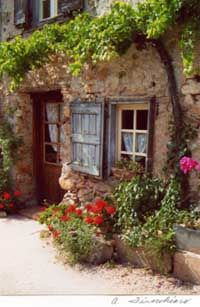 Annes's house in the French village of Soreze
