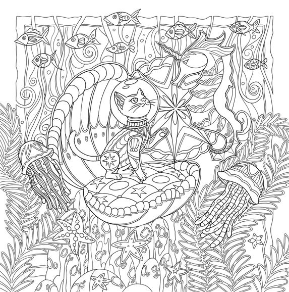 Mystical Cats in Secret Places A Cat Lover 39 s Coloring