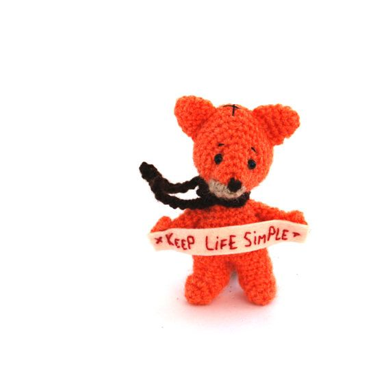 $23.68 #KEEP #LIFE #SIMPLE #Little #Fox, #Make #Smarter #Decisions #Sign #Inspiring #Marc #Wise #Words #holding by an #Amigurumi #Fox #Miniature #Reminder for #Teens