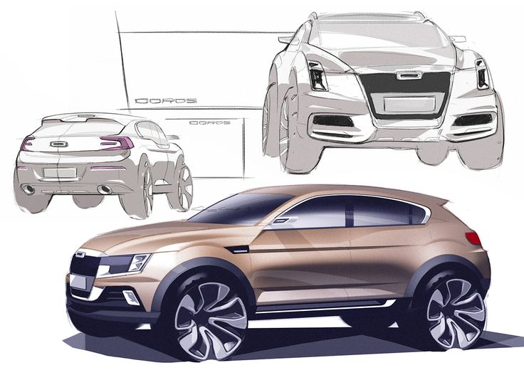 Qoros SUV on Behance