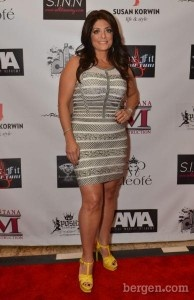 Banded dress worn by Kathy Wakile to the Latest Posh Fashion show in NJ