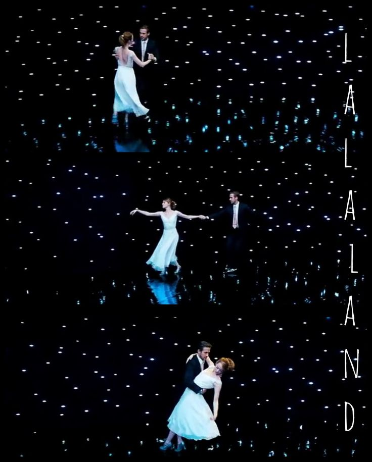 La La Land. Dancing. Valse. Romantic. Love.  Ryan Gosling and Emma Stone.