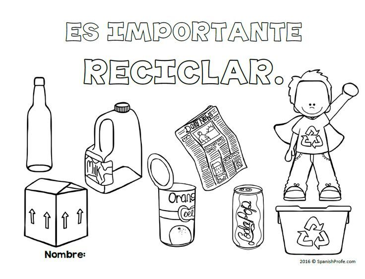 earth day recycling in spanish actividades dia de la. Black Bedroom Furniture Sets. Home Design Ideas