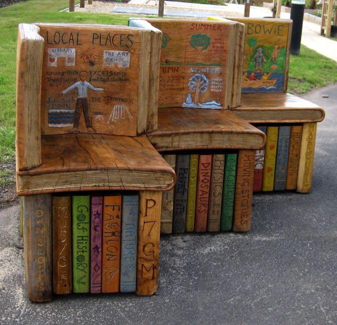 fantastic oak book benches