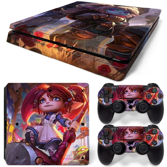 >> Click to Buy << Decal skin sticker for PS4 Slim console cheap price custom PVC game stickers for PS4 slim #Affiliate