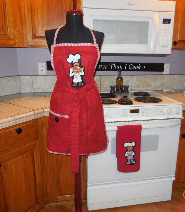 """Womens Bib apron, full apron, """" Sassy Chef, """" red, kitchen, cooking, vender, large pocket, MATCHING TOWEL by jewellgem on Etsy"""