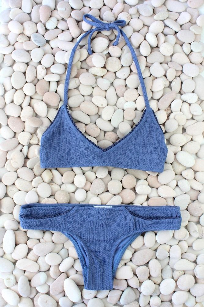 Made by Dawn — Shell Picker | Jean Blue bikini