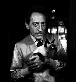 jean cocteau with a cat