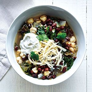 Black Bean, Hominy, and Kale Stew | CookingLight.com #myplate #protein #vegetables