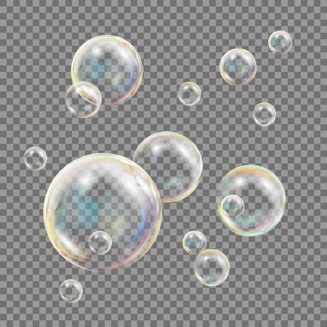 Transparent Soap Bubbles Vector Colorful Falling Soap Bubbles Isolated Illustration Vector And Png Soap Bubbles Bubbles Soap