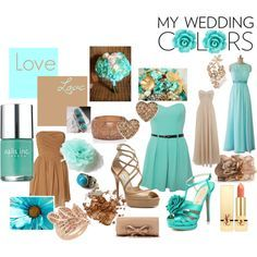 turquoise lime green and latte wedding - Google Search