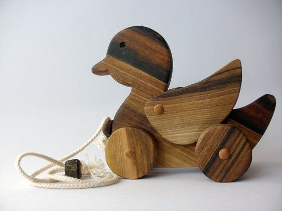 Wooden pull toy eco friendly - DUCKY DUCK