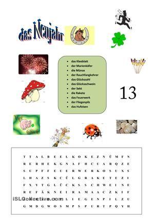 Rätsel,Wortschatzarbeit - DAF Arbeitsblätter