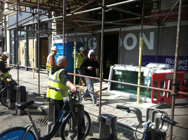 """The builders working at this site on Shoreditch High Street shouted abuse at me this morning (""""pig"""" etc). I have a thick skin so it doesn't get to me THAT much but I wanted the world to know what dicks some of these men are."""